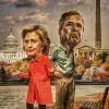 Hillary Clinton and Jeb Bush, Washington Post, Usa, December 2015